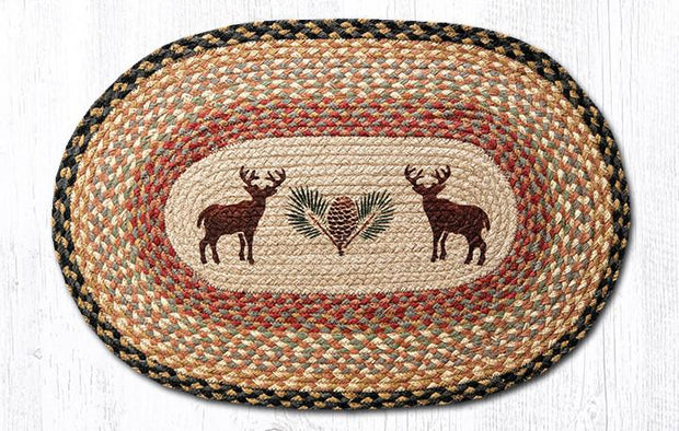 "Capitol Earth Rugs Deer & Pinecone Oval Patch Rug, 20"" x 30"""