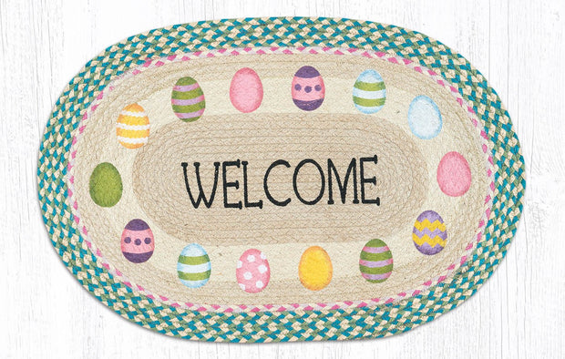 "Capitol Earth Rugs Easter Welcome Oval Patch Rug, 20"" x 30"""