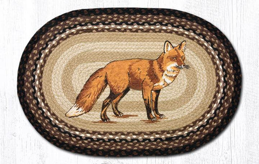 Capitol Earth Rugs Fox Oval Patch Rug, 20