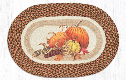 Capitol Earth Rugs Joyful Harvest Oval Patch Rug, 20