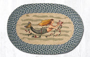 "Capitol Earth Rugs Mermaid Oval Patch Rug, 20"" x 30"""