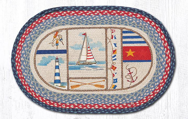 "Capitol Earth Rugs Nautical Breeze Oval Patch Rug, 20"" x 30"""