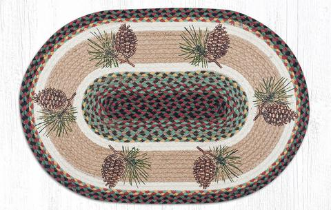 "Capitol Earth Imports Pinecone Oval Patch Rug, 20"" x 30"""