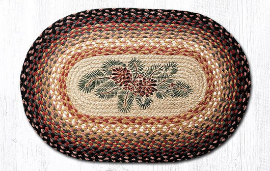 Capitol Earth Rugs Pinecone & Red Berries Oval Patch Rug, 20