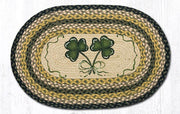 "Capitol Earth Rugs Shamrock Oval Patch Rug, 20"" x 30"""