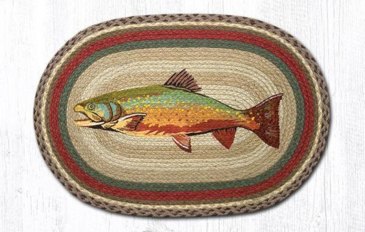 Capitol Earth Rugs Trout Oval Patch Rug, 20