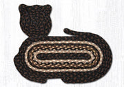 Cat-Shaped Braided Jute Rug