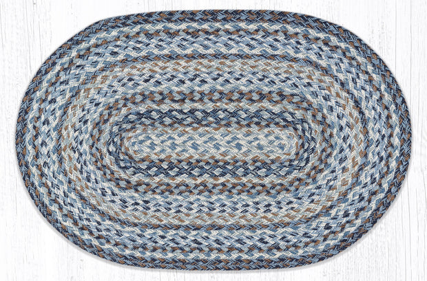 "Capitol Earth Rugs Denim Craft-Spun Rug, 20"" x 30"" Oval"