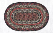 "Capitol Earth Rugs Terracotta Traditional Craft Spun Rug, Oval 20"" x 30"""