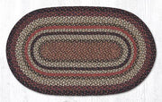 "Capitol Earth Rugs Terracotta Traditional Craft Spun Rug, Oval 27"" x 45"""