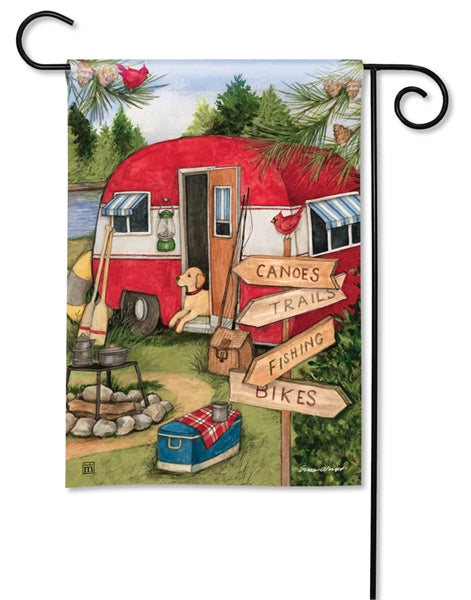 "Studio-M Camping Weekend Garden Flag, 12.5"" x 18"""