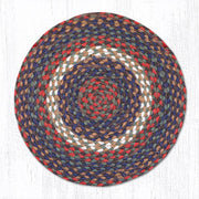 Capitol Earth Rugs Braided Jute Chair Pad, Burgundy/Grey