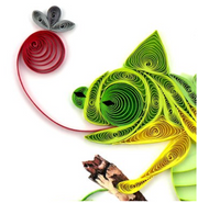Chameleon Quilling Card