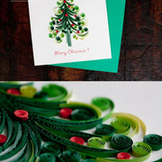 Christmas Tree Quilling Card Detail