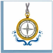 Nautical Compass Quilling Card