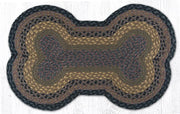"Capitol Earth Rugs Dog Bone-Shaped Braided Rug, Brown/Black/Charcoal, 18"" x 28"""