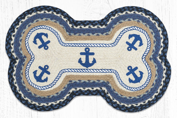 Capitol Earth Rugs Anchor Printed Dog Bone Rug