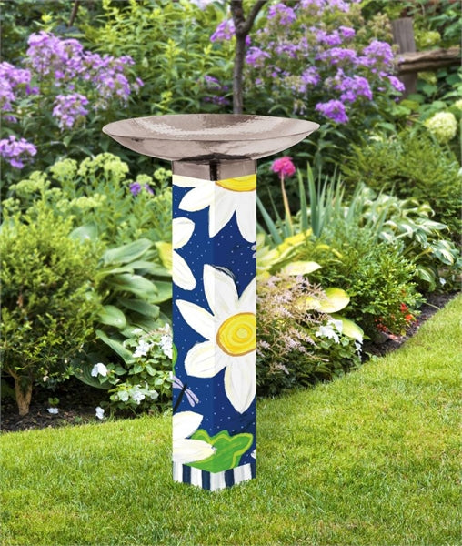 Studio-M Daisy Blues Bird Bath Art Pole