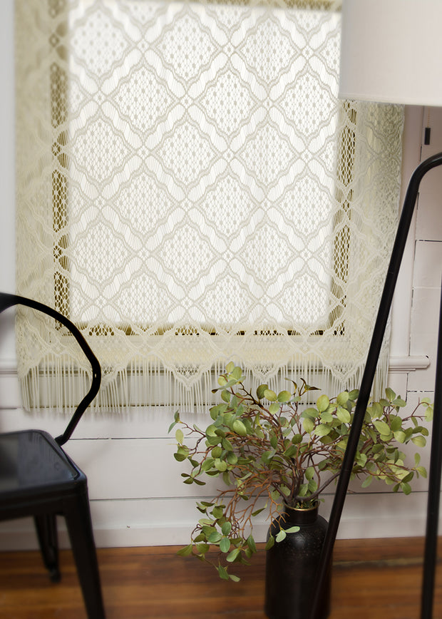 Heritage Lace Diamond Fringe Curtain Collection, Cafe