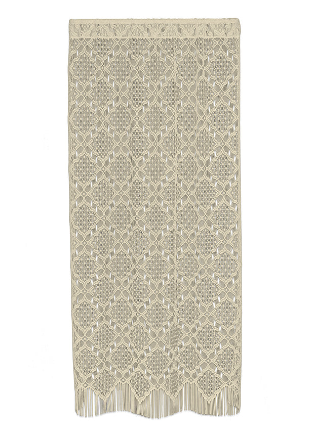 Heritage Lace Diamond Fringe Panel, Cafe