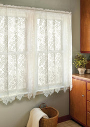 Heritage Lace Dogwood Curtain Collection, White