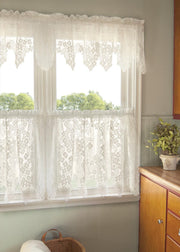 Heritage Lace Dogwood Curtain Collection, Ecru