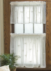 Heritage Lace Dragonfly Curtain Collection, White