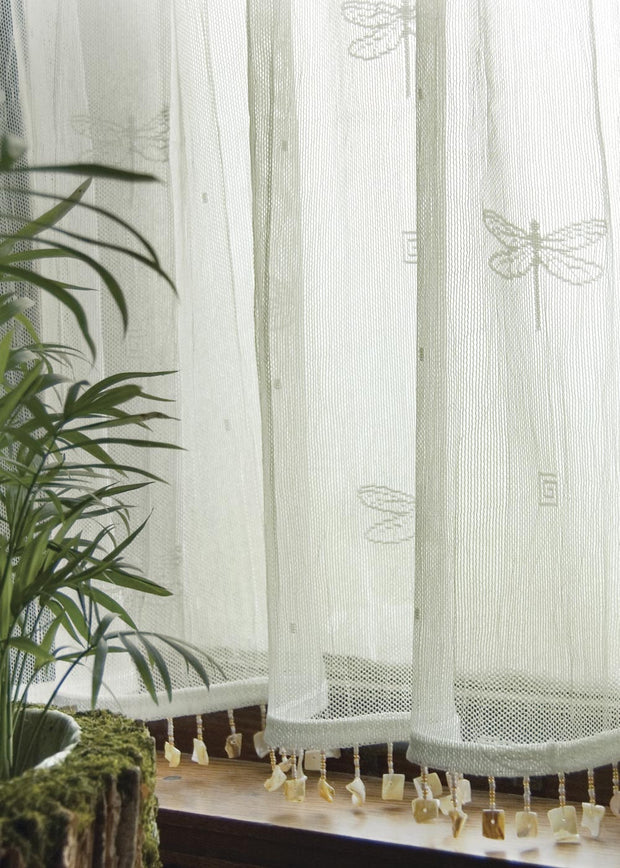 Heritage Lace Dragonfly Curtain Collection Trim Detail