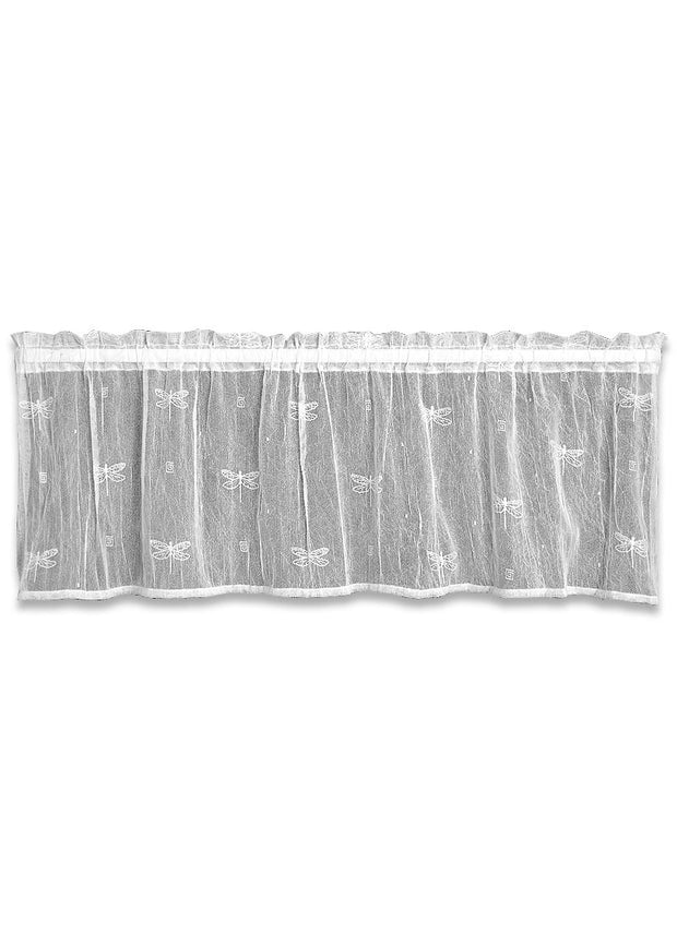 Heritage Lace Dragonfly Valance, White