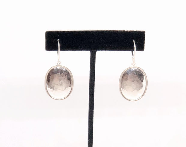 Indiri Collection DASA Hammered Oval Drop Earrings