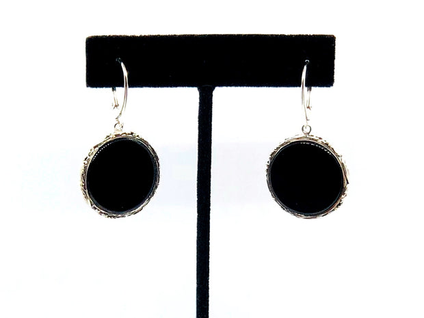 Indiri Collection Black Onyx Drop Earrings