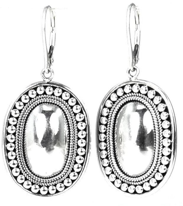 Indiri Collection RAYA Beaded Low Dome Drop Earrings