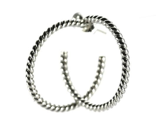 Indiri Collection SURA Round Twisted Wire Hoop Earrings