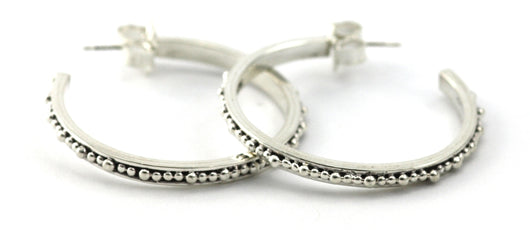 Indiri Collection INDA Thin Bead Hoop Earrings