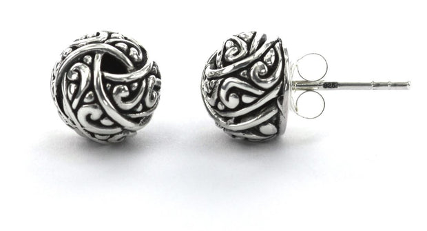 Indiri Collection WEDA Round Knot Post Earrings