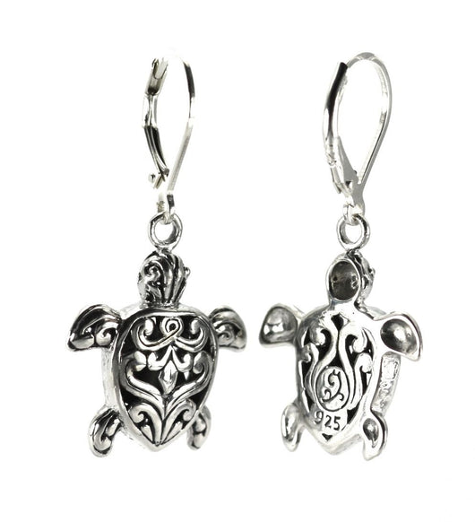 Indiri Collection WEDA Filigree Sea Turtle Drop Earrings