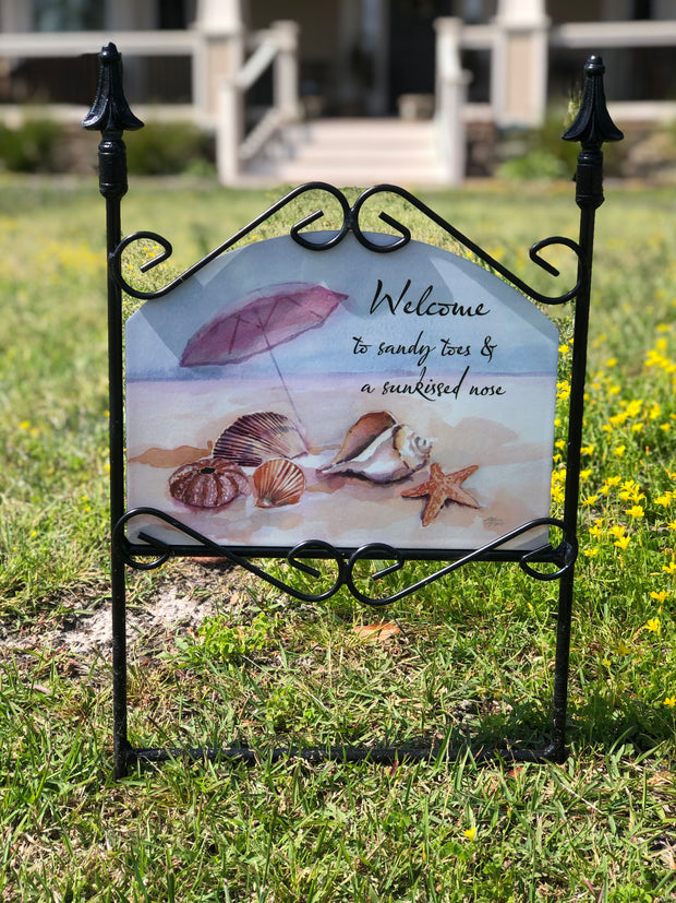 Sandy Toes & Sunkissed Nose Garden Sign