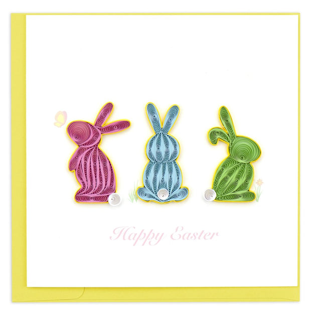 Easter Bunnies Quilling Card