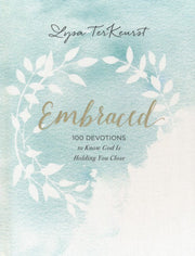Embraced: 100 Devotions to Know God is Holding You Close, Cover