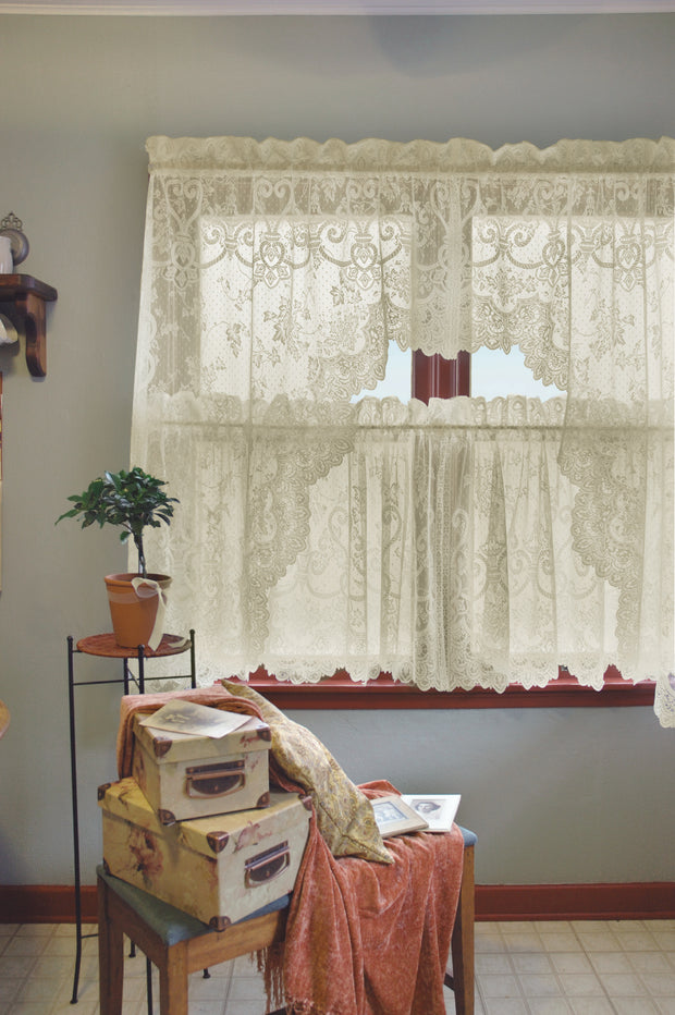 Heritage Lace English Ivy Curtain Collection, Ecru