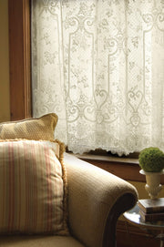 Heritage Lace English Ivy Curtain Detail, Ecru