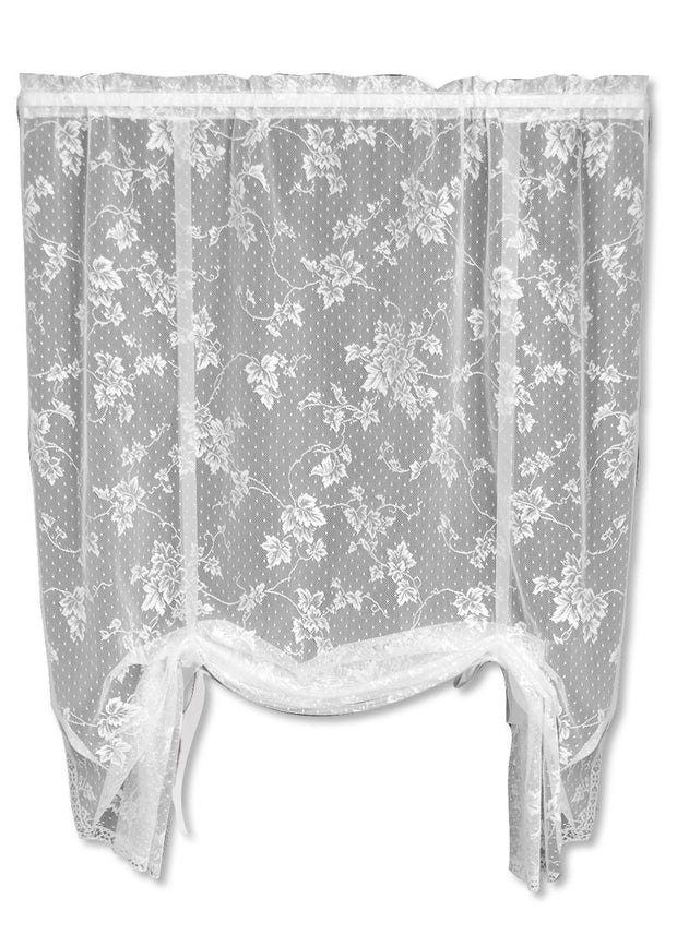 Heritage Lace English Ivy Drape Shade, White