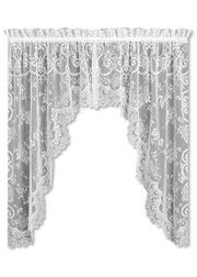 Heritage Lace English Ivy Swag Pair, White