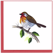 English Robin Quilling Card