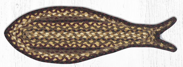 Fish-Shaped Braided Jute Rug
