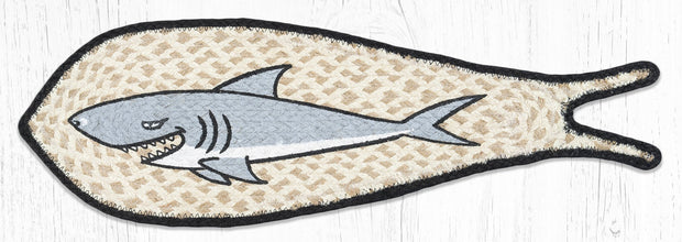 Capitol Earth Rugs Shark Printed Fish-Shaped Rug