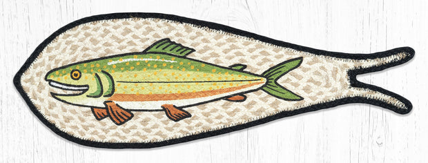 Capitol Earth Rugs Trout Printed Fish-Shaped Rug