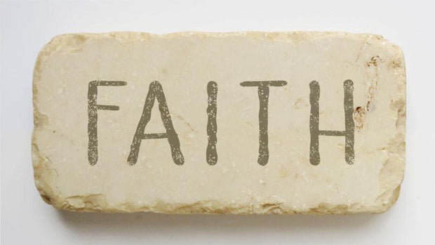 Twelve Stone Art Faith Scripture Stone, Half Block