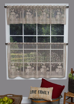 Heritage Lace Farmhouse Curtain Collection, Natural