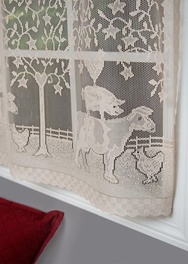 Heritage Lace Farmhouse Curtain Detail